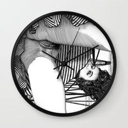 asc 768 - La baronne perchée (The girl who was not afraid of heights) Wall Clock