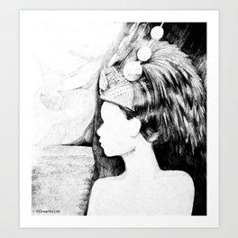 Samoan Virgin Princess (Taupou) searching for Paradise Art Print