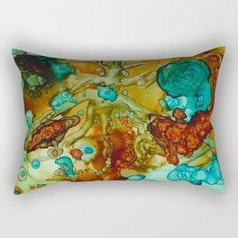 flora beginnings Abstract Rectangular Pillow