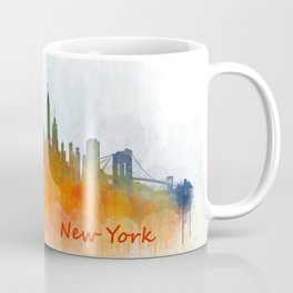 New York City Skyline Hq V03 Coffee Mug
