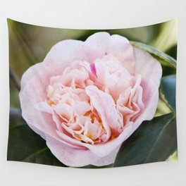 Strawberry Blonde Camellia Flower Wall Tapestry