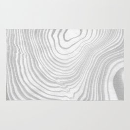 Sanyu - spilled ink abstract marble minimal topography black and white grey art Rug