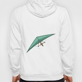Hang glider above the clouds. Hoody