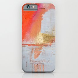 Insight: a minimal, abstract painting in reds and golds by Alyssa Hamilton Art iPhone Case