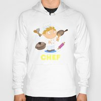 chef Hoodies featuring Chef by Alapapaju