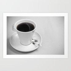 Coffee and Cigarette Art Print