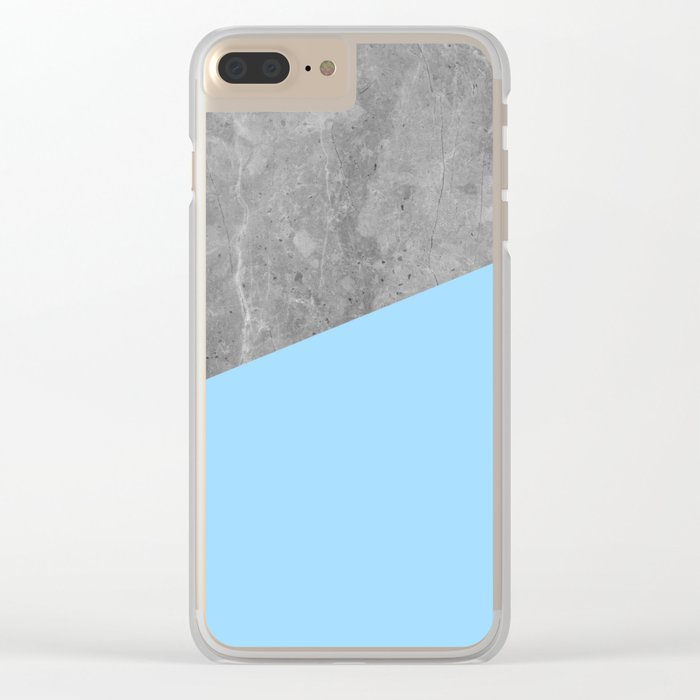 Geometry 101 Blue Raspberry Clear iPhone Case