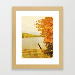 Crystal Lake, Maine Framed Art Print