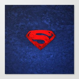 super man logo Canvas Print