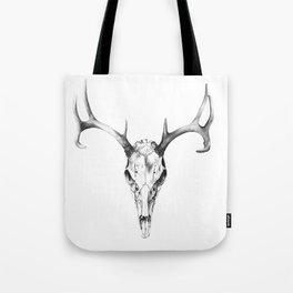 Deer Skull in Pencil Tote Bag