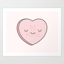 Pink Sweet Candy Heart Art Print