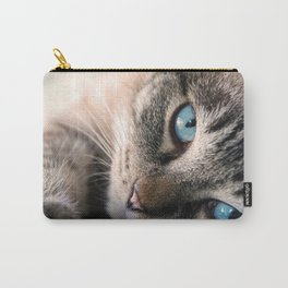 Blue eyed cat Carry-All Pouch