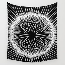 Black-and-White Abstract 48 Wall Tapestry