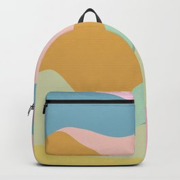 Abstract Mountain Landscape in Pastel Colors Backpack