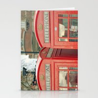 telephone Stationery Cards featuring Telephone by The Last Sparrow