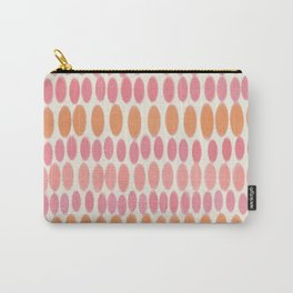 Pastel Easter Coral Pink Oval Egg Pattern Carry-All Pouch