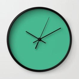 Shells Adrift ~ Spring Green Wall Clock