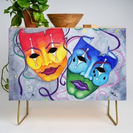 Comedy and Tragedy Credenza