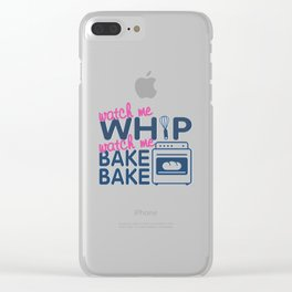 WATCH ME BAKE BAKE Clear iPhone Case