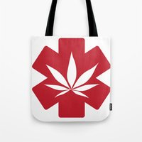medical Tote Bags featuring Medical Marijuana by WeedPornDaily