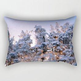 Winter Panorama Rectangular Pillow