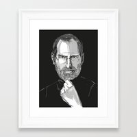 steve jobs Framed Art Prints featuring Steve Jobs by 1and9