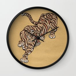 Tiger in Asian Style Wall Clock