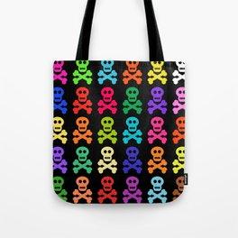 Colorful Pirate Skulls Tote Bag