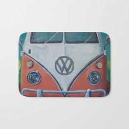 'Bohemian Dream' Hippie Van Art V W Van art, V W bus art Bath Mat