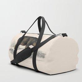 Vintage Hippopotamus Duffle Bag