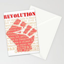 This is the awesome revolutionary Tshirt Those who make peaceful revolution by various PARTICIPATION Stationery Cards