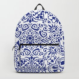 Blue Mexican Tile Backpack