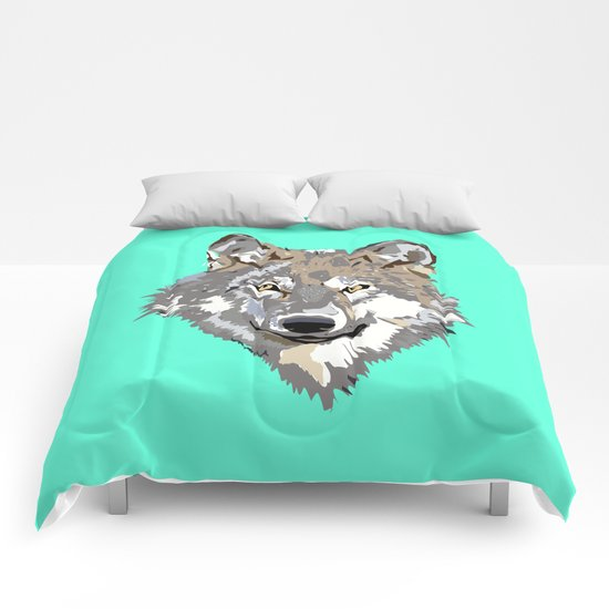 Wolf Face Comforters