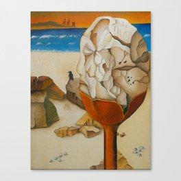 Caesarea Rock (Oil) Canvas Print