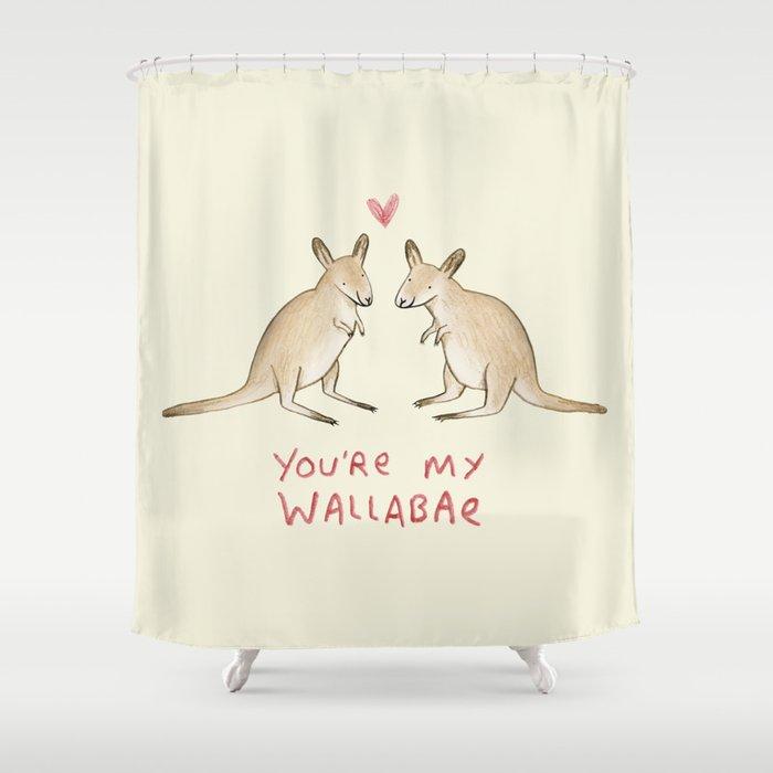 Wallabae Shower Curtain