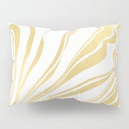 Bronze Copper Gold Rush Marble Ink Swirl Pillow Sham