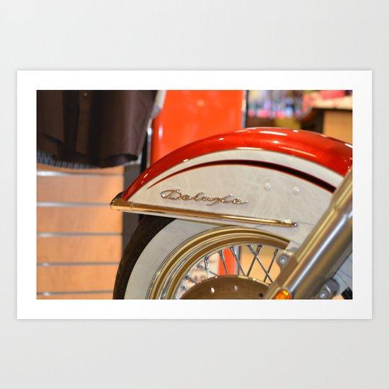 Harley Davidson Deluxe 1955 Art Print