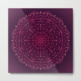 Mandala Violet Lace Metal Print