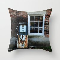 pocket fuel Throw Pillows featuring Fuel by 100 Watt Photography