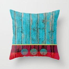 shabby chic wood art Throw Pillow