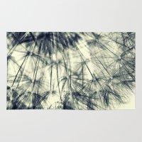 dandelion Area & Throw Rugs featuring Dandelion by Falko Follert Art-FF77