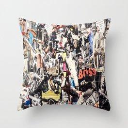 Les Gars New Yorkias  Throw Pillow