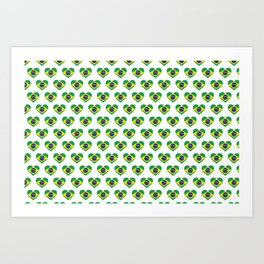 Brazil Love flag Motif Repeat Pattern design background  Art Print