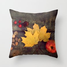 treasures of the autumn  Throw Pillow