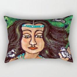 Chickadee Maiden * Nature Maiden Rectangular Pillow