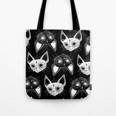Kittens (Black Version) Tote Bag