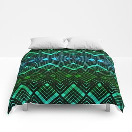 TARTAN REVISTED - GREEN Comforters