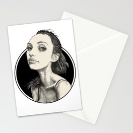 Arina Black Circle Stationery Cards