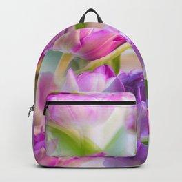 Multicolor Tulip Bouquet Spring Mood #decor #society6 #buyart Backpack