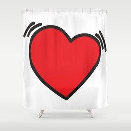 Beating heart Shower Curtain